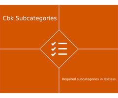 Required subcategories